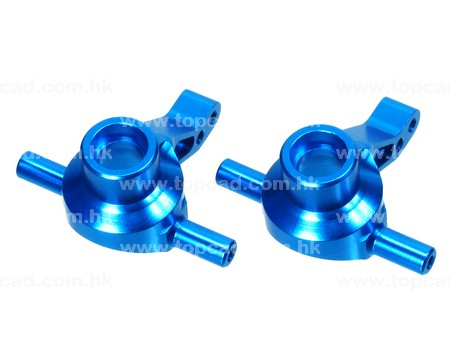 Alloy Front Steering Block / (2) for TT02