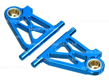 Alloy Front Lower Arm / (2) for TT02