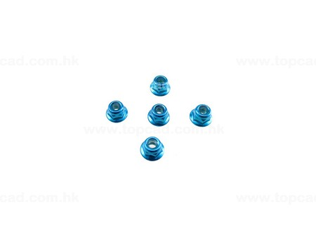 HD 4mm Low Mass Lock Nut Set / (5) for XV-01
