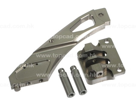 Alloy Rear Chassis Brace Set for Bullet MT