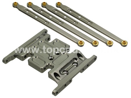 Alloy Gearbox Holder & Lower Link for SCX-10