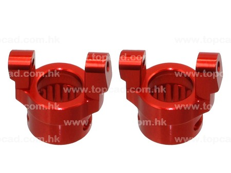 Alloy C Hub carrier (2)  for Axial Ridgecrest