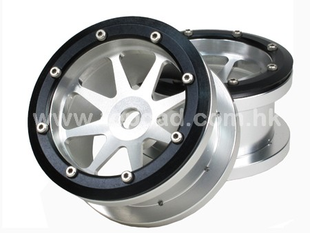 Alloy 8-spoke Bead Lock Wheel (2) for Wraith
