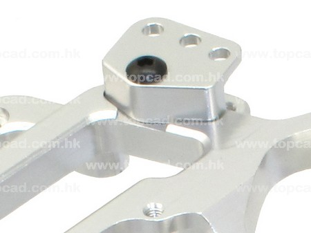 Alloy 1 Piece Alloy Chassis (2) for Axial Rigecrest