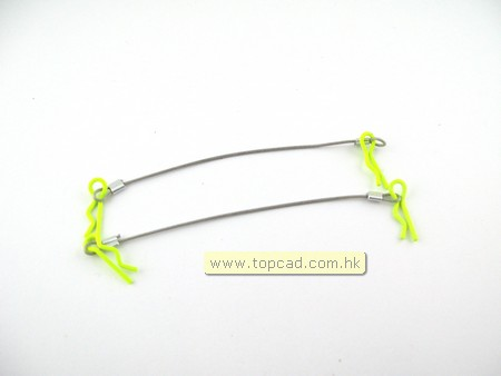 Cable color body clips for 1/10 RC car