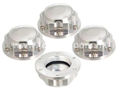 Alloy hub nut (4) for 1/5 Baja or KM Baja