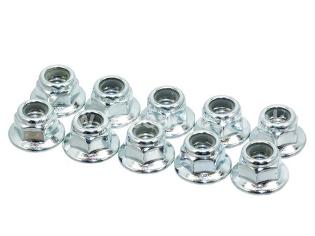 HD 4mm Low Mass Lock Nut set With Flange (10)