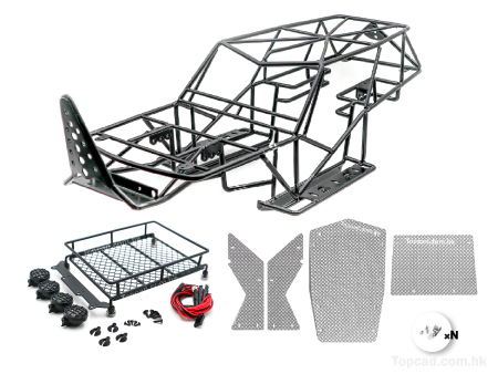 Outer Roll Cage set with Luggage Rack & Rocker Plates for Axial