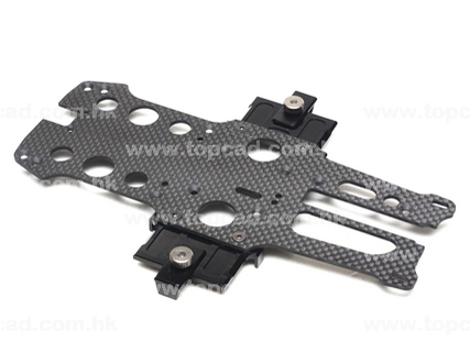 100% Carbon Radio Plate With Battery Mount Kit Set for Optima